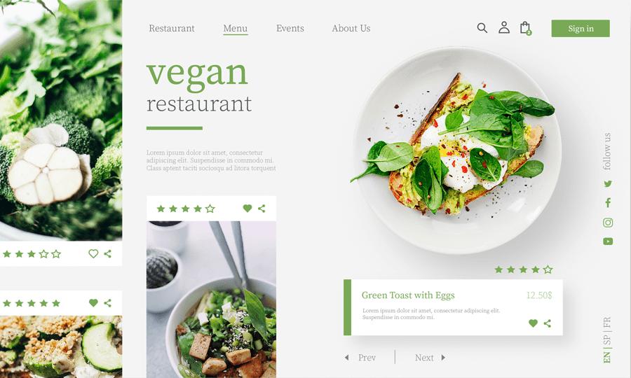 restaurant site vegan